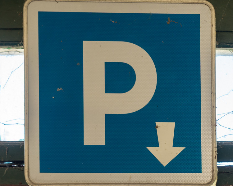 Parking, either ahead or below.