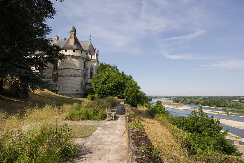 Chaumont-sur-Loire and the Loire.