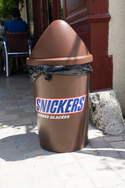 Trash can for Snickers ice cream bars?