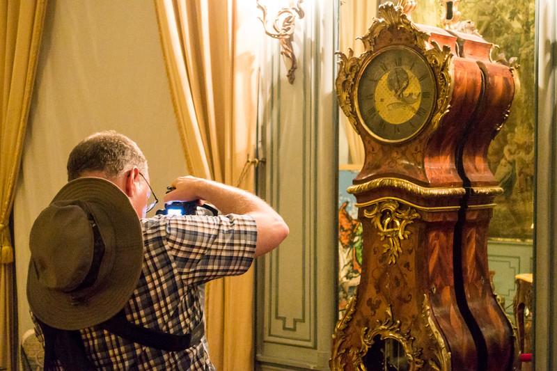 Bryan getting a picture of the regulator clock.