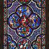 The Good Samaritan and Adam and Eve window