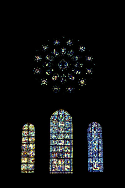 The West Rose window in 1979