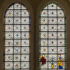 Grisaille windows (with the Annunciation)
