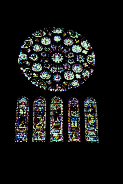 The South Rose window in 1979