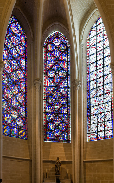 The St. Thomas the Apostle to India and St. Julien the Hospitaller windows (and a Grisaille window, too)