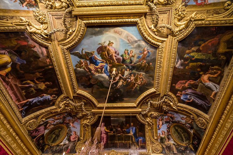 Marie Antoinette's bedroom ceiling.