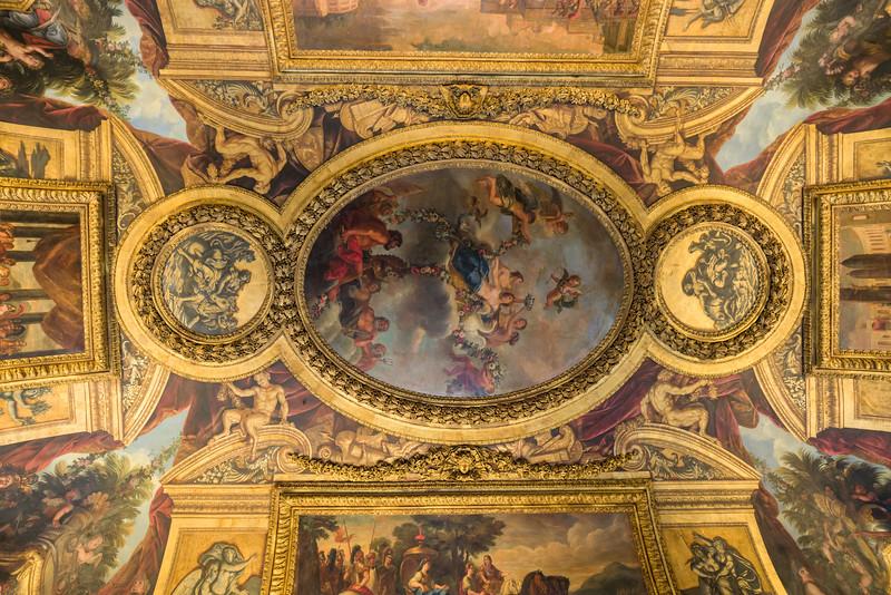 Ceiling in the Venus room - Venus being crowned by the Graces.