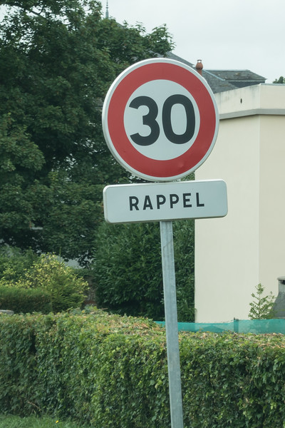 Remember, speed limit 30!