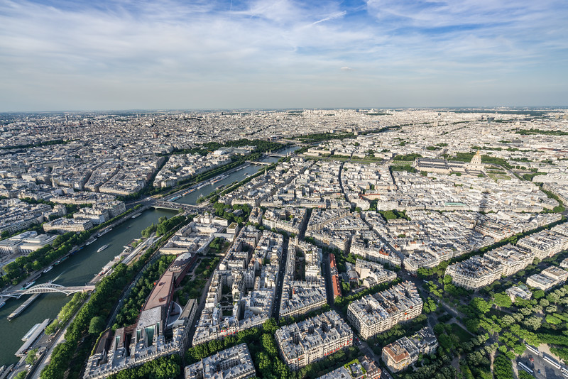 Paris and la Seine from top of the tower.