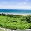 View of Omaha Beach from the cemetery.