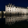 Downstream side of Chenonceau reflected in the Cher River.