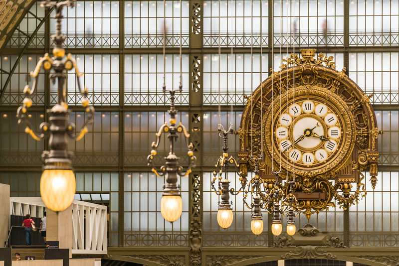 Interior lights and the clock.