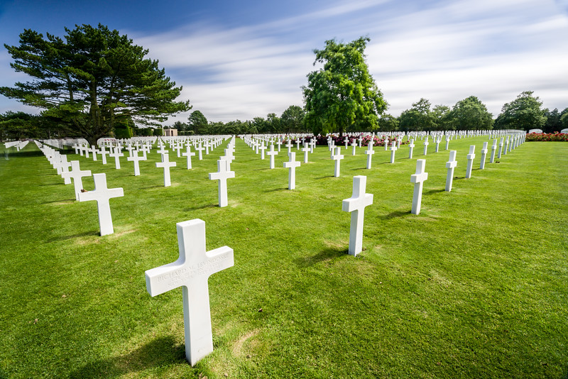 A (small) portion of those buried at Omaha Beach.