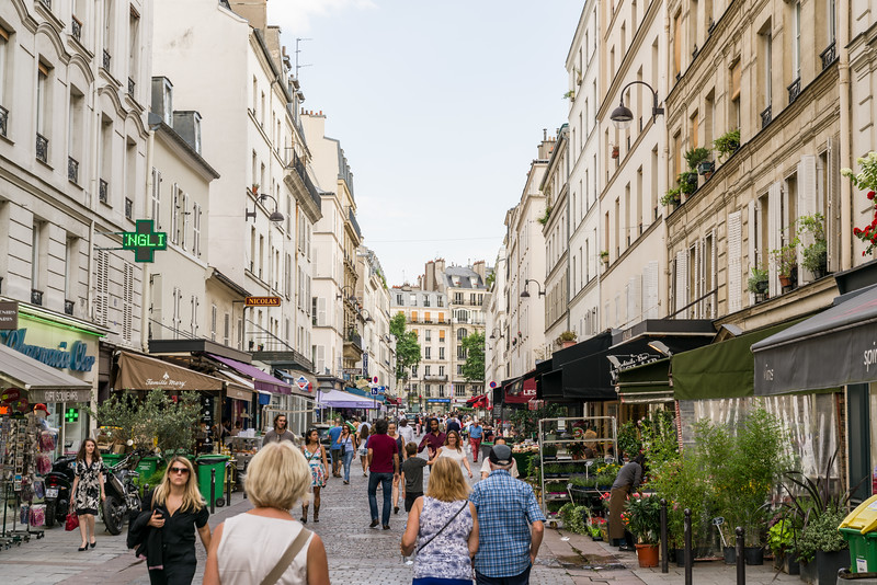 Looking back up Rue Cler.