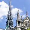 Central spire on Notre-Dame de Paris.