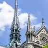 Central spire on Notre-Dame de Paris.