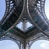 La Tour Eiffel from the bottom.