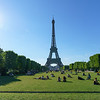 People relaxing on the Champ de Mars - Landscape