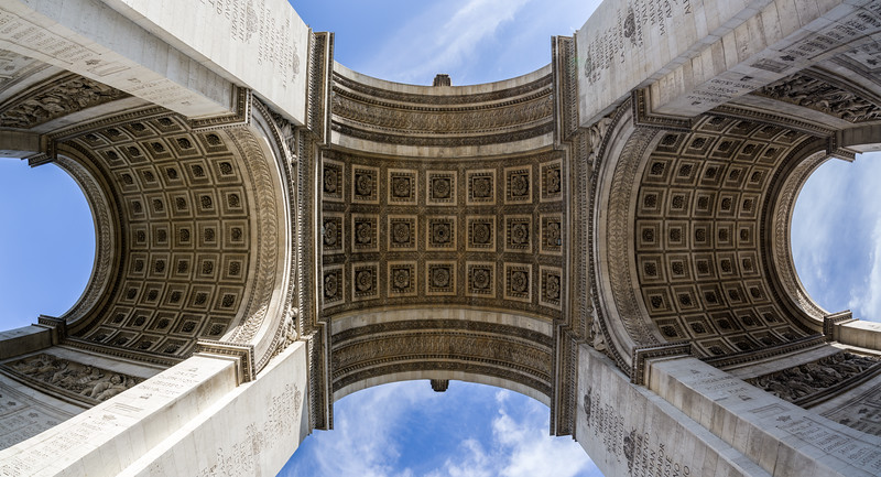 Panorama from under l'arc.
