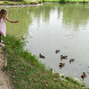 Feeding the ducks (and occasional fish).