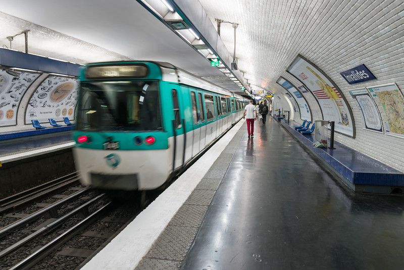 Le Métro - our preferred way of getting around in Paris.