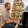 Playing Christmas music for mom.