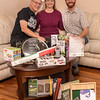 The 3 of us behind our opened presents.