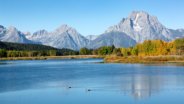 Grand Teton from Oxbow bend, Grand Teton National Park, USA