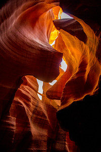 Light and shadows abound throughout Antelope Canyon