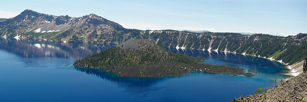 Wizard Island Panorama ll Crater Lake National Park, Merriam Point 12x36 Panorama