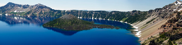 Wizard Island Panorama l Crater Lake National Park, Merriam Point 12x48 Panorama