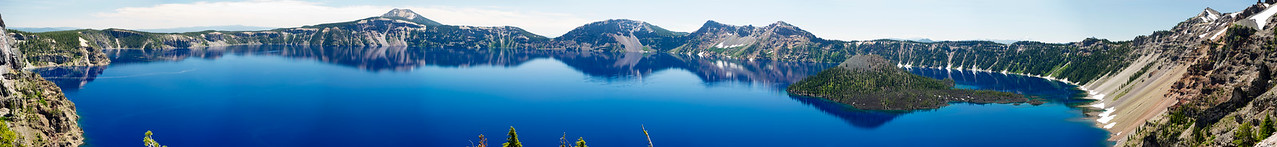 "Crater Lake Panorama ll North Junction 12""x104"" Panorama"