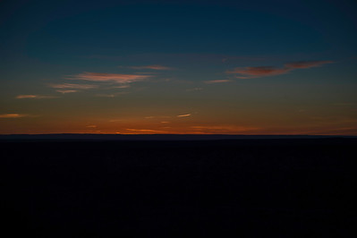 The darkening sky after sunset from Pima Point. My favorite time; the blues slowly turn to black