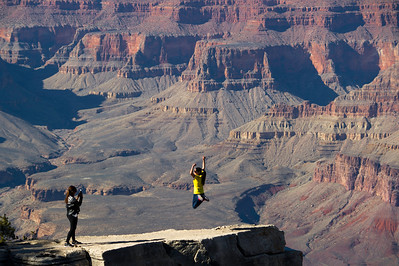 Near Mather Point. A popular spot. The picture is not deceiving; the rock point really does drop off