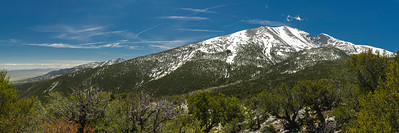 View of Wheeler Peak from Mather Overlook, 4000' below summit.