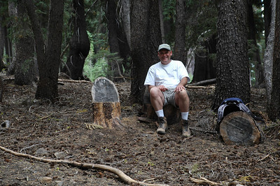 A resting spot on the Pacific Creast Trail (PCT)