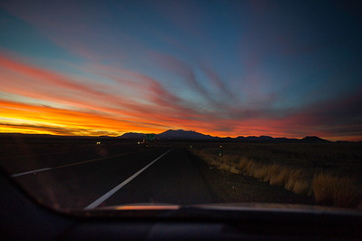 The sunset near Flagstaff