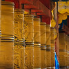 Bhutan Tibetan prayer wheels