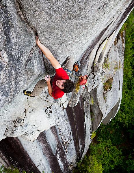 Climber in Squamish