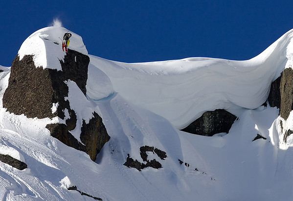 Backcountry cliff