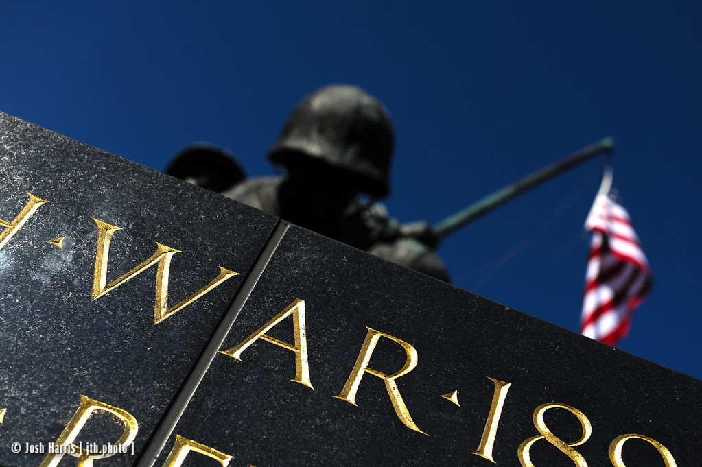 Marine Corps War Memorial, Washington, October 2009.