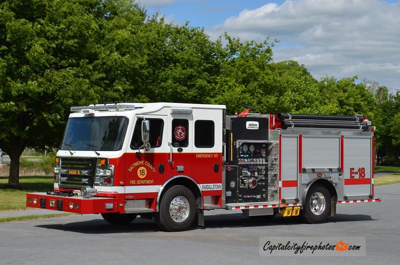 Baltimore Co. (Randallstown) Engine 18: 2015 Rosenbauer Commander 1500/1000
