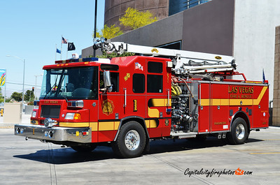 Las Vegas, NV Engine 1: 2001 Pierce Quantum 1500/500 50' Snozzle