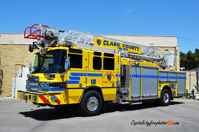 "Clark County, NV Truck 16: 2013 Pierce Quantum ""PUC"" 1500/500 75'"