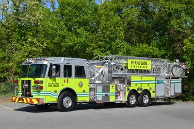 Miami Dade Fire Rescue Tower: 2015 Sutphen 1500/350 100'