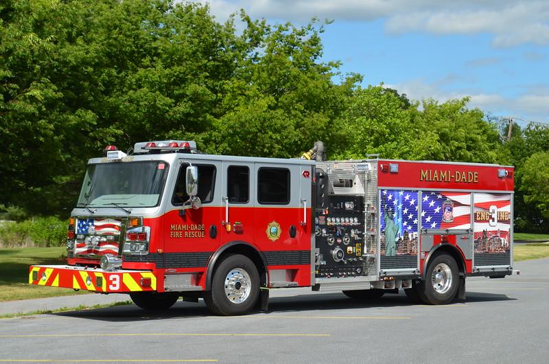 Miami Dade Fire Rescue Engine 3: 2015 Rosenbauer Commander 1250/750