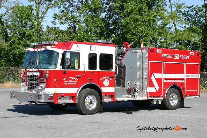 Mt. Storm (Grant Co.) Engine 150: 2010 Spartan MetroStar/4 Guys 1500/1000/30