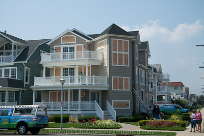 Home on Ocean Ave in Belmar being boarded up in preparation oh hurricane Irene.