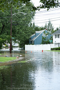 Rochelle Pk NJ, intersection of Cedar Ave & Crescent St, entire neighborhood west of Rochelle Ave flooded up to 3+ feet in some areas.