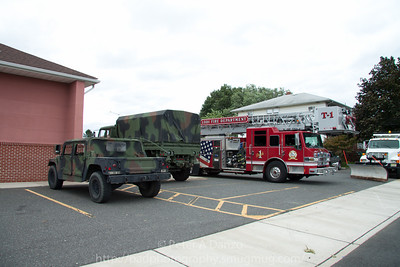 Lodi NJ, co's from fire headquarters on Main St relocated to the Kennedy St firehouse due to flooding along with NJ National Guard units.